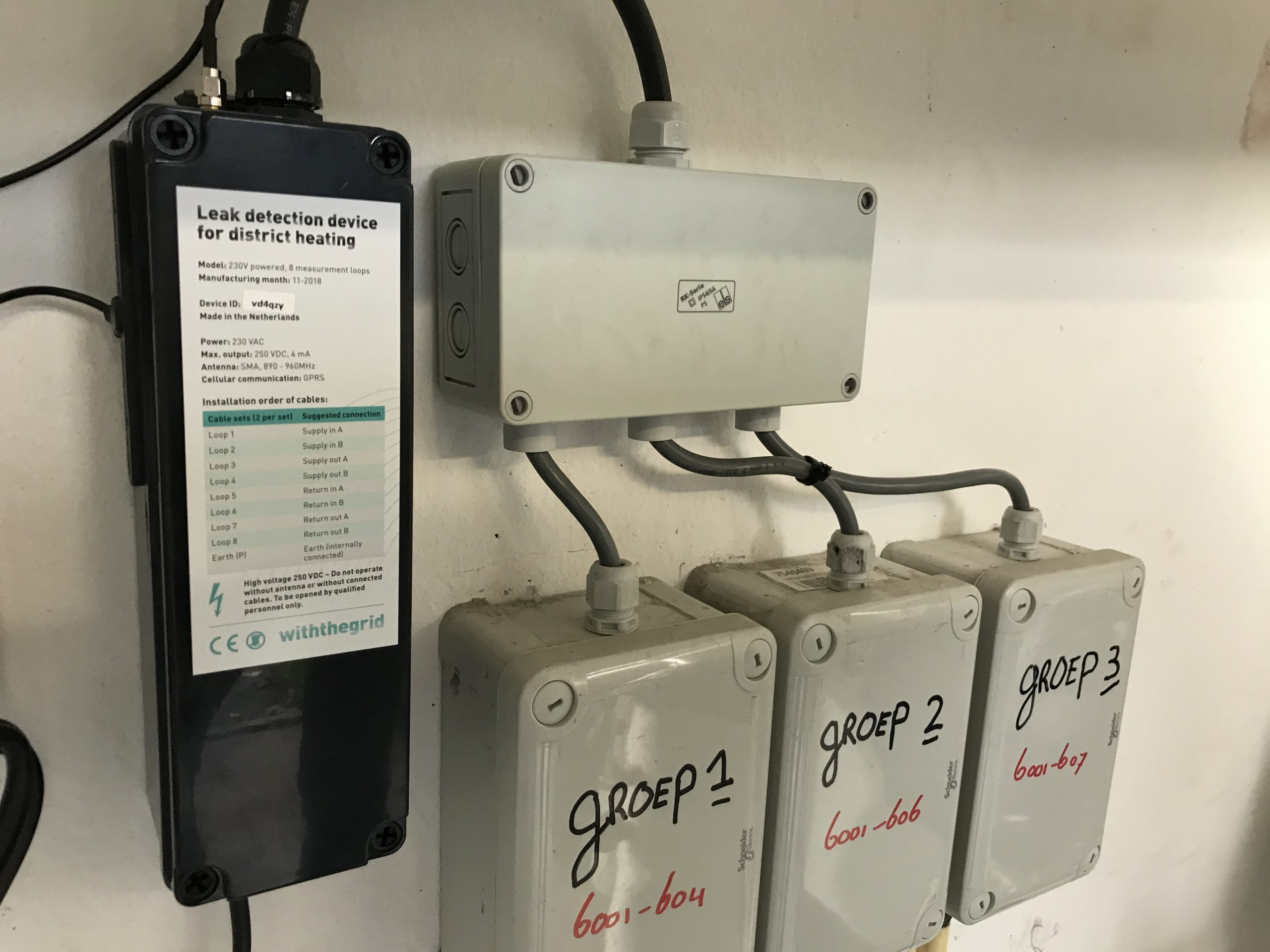 Remote monitoring device for district heating